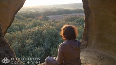 meditando en el campo copia