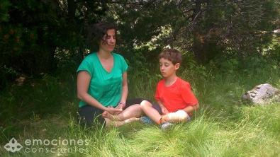 Meditando en la naturaleza